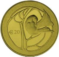 reverse of 20 Euro - 50th Anniversary of the Republic of Cyprus (2010) coin with KM# 95 from Cyprus. Inscription: € 20