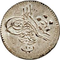 obverse of 10 Para - Abdul Hamid II (1876 - 1878) coin with KM# 275 from Ottoman Empire.