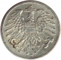 obverse of 2 Groschen (1950 - 1994) coin with KM# 2876 from Austria.