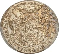 obverse of 1 Groschen - Franz Ludwig - Death of Franz Ludwig (1732) coin with KM# 259 from German States. Inscription: FR.LVD.D.G.S.S.MOG.ARCH.EP.S.R.I.P.GFRM.ARCHIC.P.E.CP.R