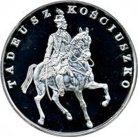 reverse of 200000 Złotych - Tadeusz Kościuszko (1990) coin with Y# 203 from Poland.