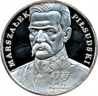 reverse of 200000 Złotych - Marshal Józef Klemens Piłsudski (1990) coin with Y# 204 from Poland.