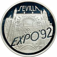 reverse of 200000 Złotych - 1992 EXPO, Seville (1992) coin with Y# 231 from Poland. Inscription: SEVILLA EXPO'92