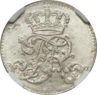 obverse of 1/24 Taler - Friedrich II (1751 - 1763) coin with KM# 263 from German States. Inscription: FR