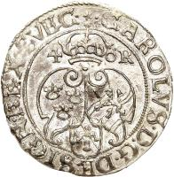 obverse of 4 Öre - Karl IX (1605 - 1606) coin with KM# 17 from Sweden.