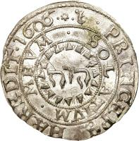 reverse of 4 Öre - Karl IX (1605 - 1606) coin with KM# 17 from Sweden.