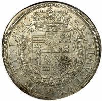 reverse of 1 Taler - Ferdinand III - Graz Mint (1638) coin with KM# 857 from Austria.