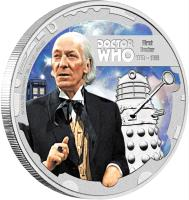 reverse of 1 Dollar - Elizabeth II - Doctor Who: 1st Doctor (2013) coin with KM# 1094 from Niue.