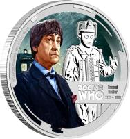 reverse of 1 Dollar - Elizabeth II - Doctor Who: 2nd Doctor (2013) coin with KM# 1095 from Niue.