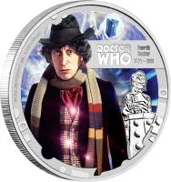 reverse of 1 Dollar - Elizabeth II - Doctor Who: 4th Doctor (2013) coin with KM# 1097 from Niue.