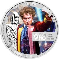 reverse of 1 Dollar - Elizabeth II - Doctor Who: 6th Doctor (2013) coin with KM# 1099 from Niue.