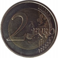 reverse of 2 Euro - Latvian Presidency of the Council of the EU (2015) coin with KM# 173 from Latvia. Inscription: 2 EURO LL