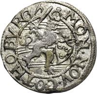 obverse of 1 Ore - Christina I - Goteborg mint (1635 - 1636) coin with KM# 159 from Sweden. Inscription: MON.NOV.GOTHOBVRG