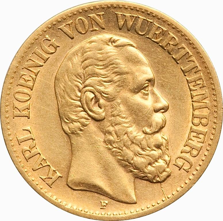 10 Mark Karl I 1874 1888 German States Km 624 Coinsbook