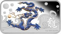 reverse of 1 Dollar - Elizabeth II - Year of the Dragon (2012) coin with KM# 1392 from Cook Islands. Inscription: 1oz 999 SILVER DB P