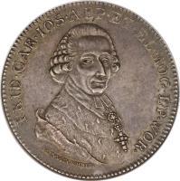 obverse of 1 Taler - Friedrich Karl Joseph (1794) coin with KM# 398 from German States. Inscription: FRID · CAR · IOS · AEP · ET · EL · MOG · EP · WOR · I · LINDENSCHMIT ·