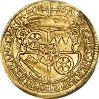reverse of 1 Ducat - Johann Philipp - Trade coinage (1652 - 1661) coin with KM# 106 from German States. Inscription: 1655 / EPISC.HERBIP.ET.ORIEN.FRANC.DVX.