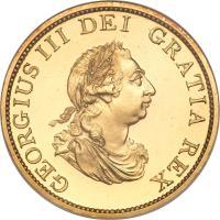 obverse of 1/2 Penny - George III (1799) coin with KM# 647a from United Kingdom. Inscription: GEORGIUS III DEI GRATIA REX