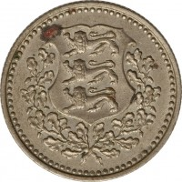 obverse of 3 Marka (1926) coin with KM# 6 from Estonia.