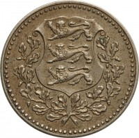 obverse of 5 Marka (1926) coin with KM# 7 from Estonia.
