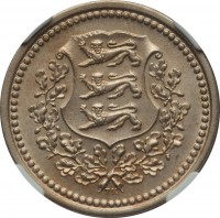 obverse of 25 Senti (1928) coin with KM# 9 from Estonia.