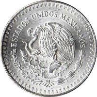 obverse of 1 Onza (1982 - 1995) coin with KM# 494 from Mexico. Inscription: ESTADOS UNIDOS MEXICANOS