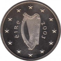 obverse of 5 Euro - 2003 Special Olympics Games (2003) coin with KM# 40 from Ireland. Inscription: éire 2003