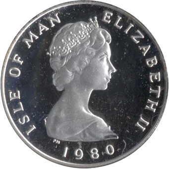 1 Penny - Elizabeth II - 2'nd Portrait (1980) Isle of Man KM