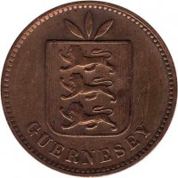 obverse of 4 Doubles - Edward VII / George V (1902 - 1911) coin with KM# 5 from Guernsey. Inscription: GUERNESEY