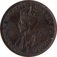 obverse of 1/12 Shilling - George V (1923 - 1926) coin with KM# 14 from Jersey. Inscription: · GEORGIVS V D.G.BRITT: OMN:REX F.D.IND:IMP: