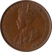 obverse of 1/12 Shilling - George V (1931 - 1935) coin with KM# 16 from Jersey. Inscription: · GEORGIVS V D.G.BRITT: OMN:REX F.D.IND:IMP: