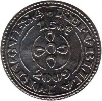 obverse of 1.5 Euro - Portuguese Numismatic Treasure: Morabitino of D. Sancho II (2009) coin with KM# 789 from Portugal. Inscription: REPÚBLICA PORTUGUESA 1,50€ 2009