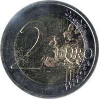 reverse of 2 Euro - Slovak Presidency of the Council of the European Union (2016) coin from Slovakia. Inscription: 2 EURO LL
