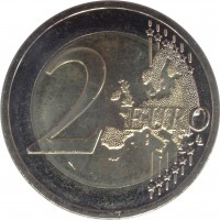 reverse of 2 Euro - Baltic Culture (2016) coin from Lithuania. Inscription: 2 EURO LL