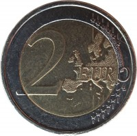 reverse of 2 Euro - One hundred Years Since the 1916 Easter Rising in Ireland (2016) coin with KM# 88 from Ireland. Inscription: 2 EURO LL