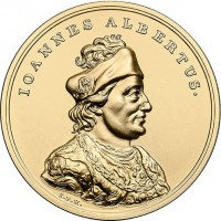reverse of 500 Złotych - Treasures of Stanislaw August: John Albert (2016) coin with Y# 969 from Poland. Inscription: IOANNES ALBERTUS.