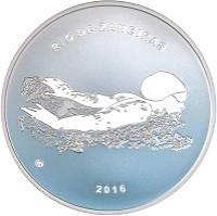 reverse of 20 Euro - XXXI Olympic Games in Rio de Janeiro (2016) coin from Lithuania. Inscription: RIO DE ŽANEIRAS 2016