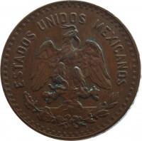 obverse of 5 Centavos (1914 - 1935) coin with KM# 422 from Mexico. Inscription: ESTADOS UNIDOS MEXICANOS