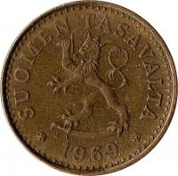 obverse of 10 Penniä (1963 - 1982) coin with KM# 46 from Finland. Inscription: SUOMEN TASAVALTA 1979 K