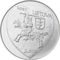 obverse of 1,5 Euro - Kaziukas Fair (2017) coin from Lithuania. Inscription: 2017 LIETUVA 1,50€