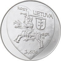 obverse of 1,5 Euro - Kaziukas Fair (2017) coin with KM# 226 from Lithuania. Inscription: 2017 LIETUVA 1,50€