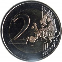 reverse of 2 Euro - 550 Years of University Istropolitana (2017) coin from Slovakia. Inscription: 2 EURO LL