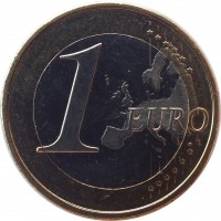 reverse of 1 Euro - Felipe VI (2015 - 2017) coin with KM# 1327 from Spain. Inscription: 1 EURO LL