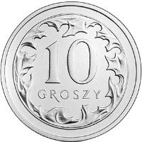 reverse of 10 Groszy (2017) coin with Y# 971 from Poland. Inscription: 10 GROSZY