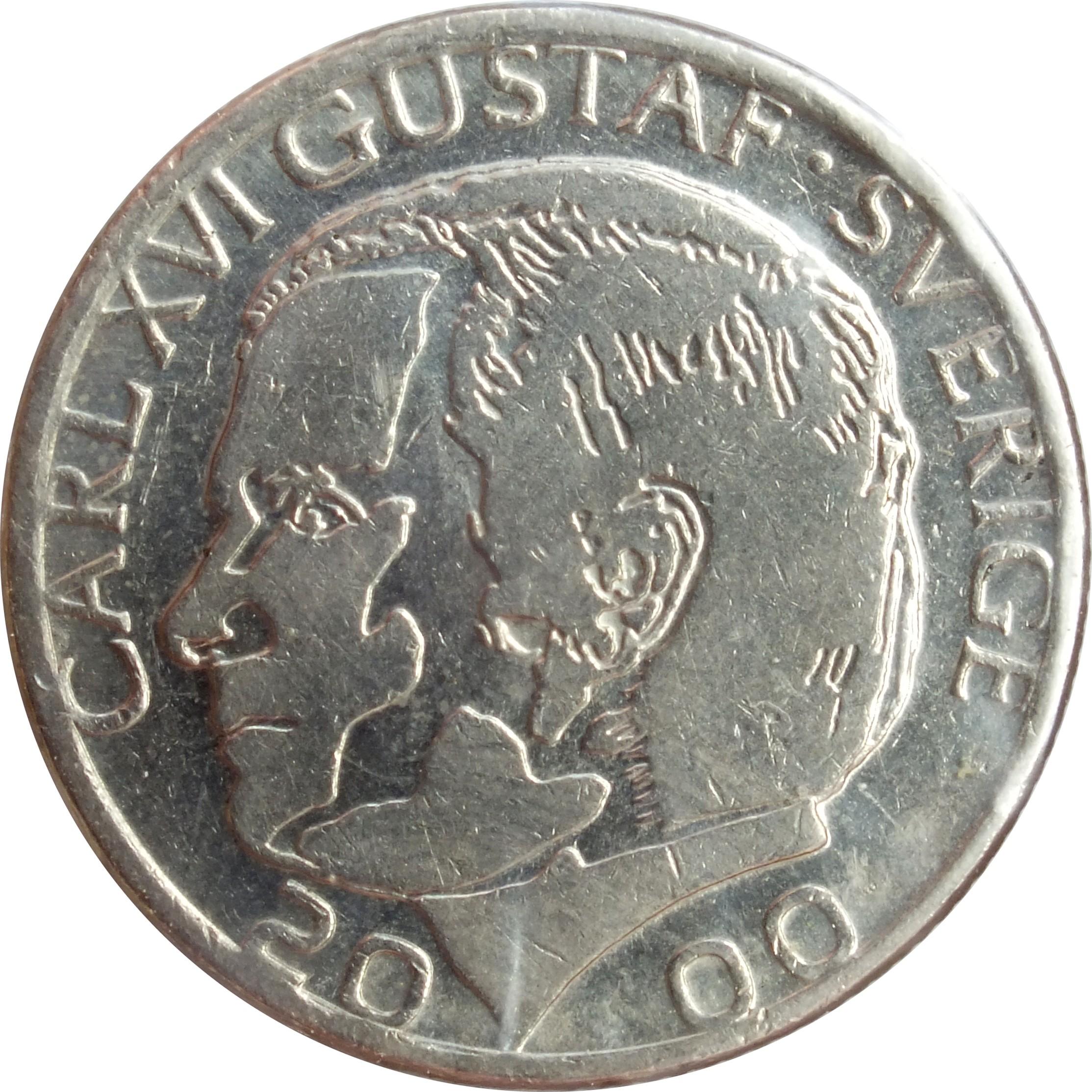 1 Krona - Carl XVI Gustaf (1982-2000) Sweden KM# 852a ...
