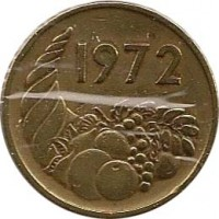 obverse of 20 Centimes - FAO (1972) coin with KM# 103 from Algeria. Inscription: 1972