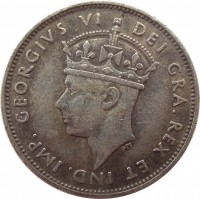 obverse of 9 Piastres - George VI (1938 - 1940) coin with KM# 25 from Cyprus. Inscription: GEORGIVS VI DEI GRA . REX ET IND . IMP .