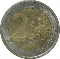 reverse of 2 Euro - Ten years of the Euro (2012) coin with KM# 3205 from Austria. Inscription: 2 EURO LL