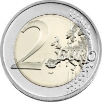 reverse of 2 Euro - Vilnius (2017) coin with KM# 228 from Lithuania. Inscription: 2 EURO LL
