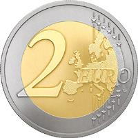 reverse of 2 Euro - Latvian Farming and Countryside (2016) coin with KM# 175 from Latvia. Inscription: 2 EURO LL